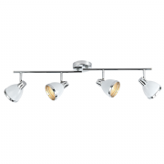Osaka 4 Light Spotlight Bar in White with a Chrome Trim - där OSA842